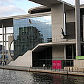 Government District With Reichstag Reflection by Christiane Schulze Art And Photography