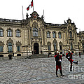 Government Palace Guards In Lima by Catherine Sherman