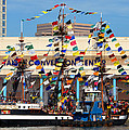 Tampa Convention Center And Gasparilla by David Lee Thompson