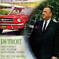 Gq Cover Of Henry Ford II And 1965 Ford Mustang by Richard Nones