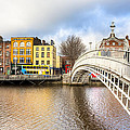Graceful Ha'penny Bridge Over River Liffey by Mark E Tisdale