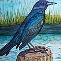 Grackle By The Water by Richard Goohs