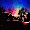 Graduate Housing Princeton University Nightscape by Anna Porter