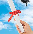 Graduation Scoll And Cap by Amanda Elwell