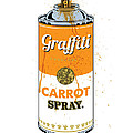 Graffiti Carrot Spray Can by Gary Grayson