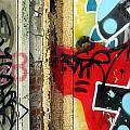Graffiti Close Up W Red by Anita Burgermeister