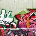 Graffiti Hot Red Hot Pink by Graffiti Girl
