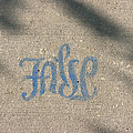 Graffiti Of False In Blue by Donna Haggerty