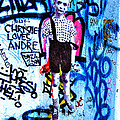 Graffiti Rendition Of Diane Arbus's Photo - Child With Toy Hand Grenade In Central Park by Randy Aveille