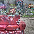 Grafitti Couch by Jane Linders