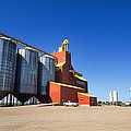 Grain Silos Saskatchewan by Buddy Mays
