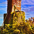 Grain Silos With Digital Painted Effect by Debbie Portwood