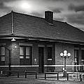 Train Depot At Night - Noir by Robert Frederick