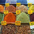 Grand Bazaar Spices In Istanbul by Luciano Mortula