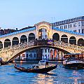 Grand Canal And Rialto Bridge At Dusk - Venice by Matteo Colombo