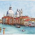 Grand Canal And Santa Maria Della Salute Venice by Dai Wynn