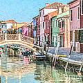 Grand Canal Burano  Venice by Liz Leyden