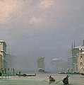 Grand Canal With Snow And Ice by Ippolito Caffi