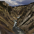 Grand Canyon Of The Yellowstone - 25x63 by J L Woody Wooden
