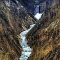 Grand Canyon Of Yellowstone - From Artist Point by Fred Hahn