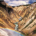Grand Canyon Of Yellowstone 1 by Thomas Woolworth