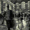 Grand Central Abstract In Black And White by Jeff Watts
