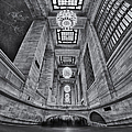 Grand Central Corridor Bw by Susan Candelario
