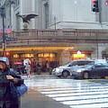 Grand Central Rain - 42nd Street by Miriam Danar