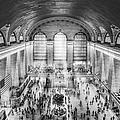 Grand Central Terminal Birds Eye View Bw by Susan Candelario
