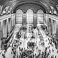 Grand Central Terminal Birds Eye View I Bw by Susan Candelario