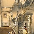Grand Elizabethan Staircase by Joseph Nash