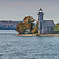 Grand Island Lighthouse. by Jim Rettker