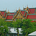 Grand Palace Of Thailand From Waterways Of Bangkok-thailand by Ruth Hager