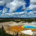 Grand Prismatic Pool Yellowstone National Park by Lane Erickson