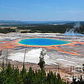 Grand Prismatic Spring From Above by Debra Thompson