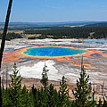 Grand Prismatic Spring From Hillside by Debra Thompson