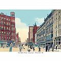 Grand Rapids - Michigan - Campau Square And Monroe Street - 1912 by John Madison