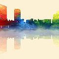 Grand Rapids Michigan Skyline 2 by Loretta Luglio