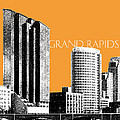 Grand Rapids Skyline - Orange by DB Artist