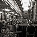 Grand Salon 05 Queen Mary Ocean Liner Bw by Thomas Woolworth
