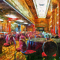Grand Salon 05 Queen Mary Ocean Liner Photo Art 02 by Thomas Woolworth