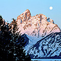 Grand Teton National Park Moonset by Ed  Riche