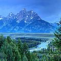 Grand Teton  - Snake River Overlook  by Gary Whitton
