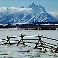 1m9306-grand Tetons From Ranch Country by Ed  Cooper Photography