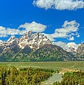 Grand Tetons Snake River Overlook  by Cynthia Kidwell