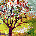 Grandmas Apple Tree Modern Art by Ginette Callaway
