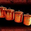 Grandma's Kitchen-copper Canister Set by Ellen Cannon