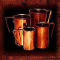 Grandma's Kitchen-copper Measuring Cups by Ellen Cannon
