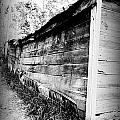 Grandpa's Wood Shed Black And White by Anthony Ackerman