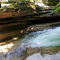 Granite Boulder And Sabbaday Brook by Christiane Schulze Art And Photography